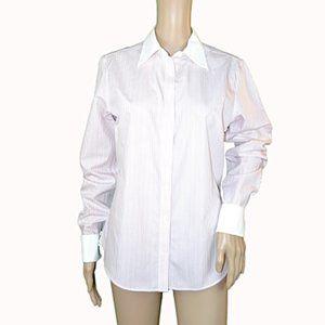 Brooks Bros Pink White French Cuff Dress Shirt 10